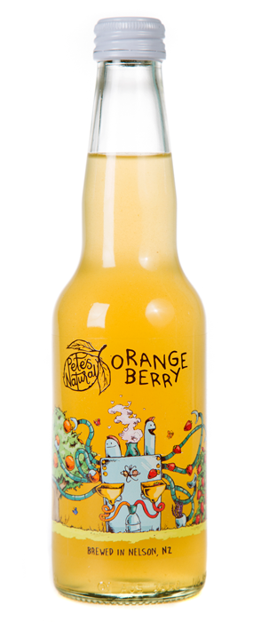 Pete's Natural Orange Berry fruit healthy Soda