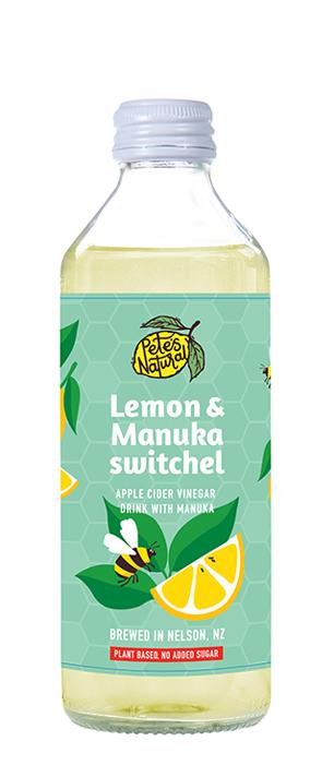Pete's Natural Lemon Manuka fruit healthy Soda