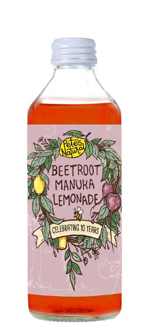 Pete's Natural Beetroot Manuka fruit healthy Soda